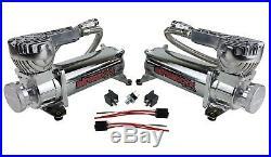1965-70 Impala Air Ride Kit Valves 7 Switch 580 Chrome Air Compressors Tank