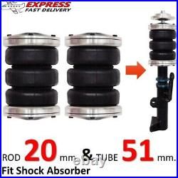 2 Universal Triple Bellow Air Bags Fit Shock Absorber 20,51 Ride Suspension kit