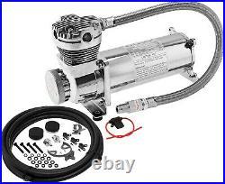 200 Psi Air Compressor 3/8 Hose Kit F/suspension/air Bag/train Horn 12v Vxc480c