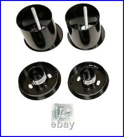 3/8 Front Rear Air Ride Suspension Bag Bracket Mount Kit For 1965-70 Cadillac
