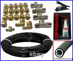 3/8 Valves 7 Switch Bags Tank 480 Air Ride Suspension Kit For 1963-72 Chevy C10