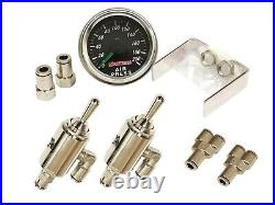 3/8 airmaxxx Manual Toggle Switch Front Rear 2 Corner Air Ride Management Kit