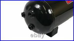 3 Gallon Steel Air Tank 6 Port For Air Ride Suspension Or Train Horn Compressor