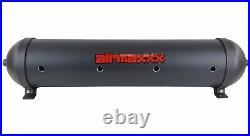 5 gallon aluminum air tank black & dual air compressors 580 black airmaxxx
