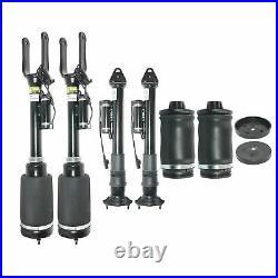 6 Pcs Front Suspension Strut+Rear Shocks+ Air Spring For Benz ML/GL 350 450 X164