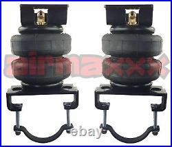 Air Bag Tow Kit & In Cab Control Wht Gauge For 01-10 Chevy 8 Lug Truck Lifted 4