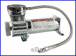 Air Compressor Chrome 400 airmaxxx 3 Gallon Air Tank Drain 165 on 200 off Switch