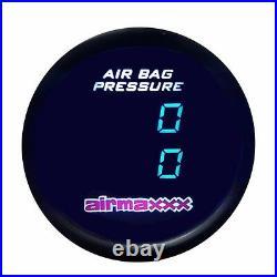 Air Gauge 200psi Dual Digital Display Panel 1 Switch Air Ride Suspension Control