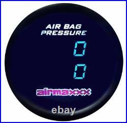 Air Gauge Dual Digital Display 200 psi Air Ride Suspension System Tinted LED