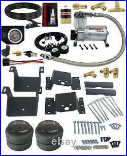Air Helper Kit Black Gauge On Board Control For 2018-19 Chevy 3500 8 Lug PU 2500