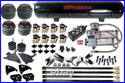 Air Kit For Chevy S10 4 Link Compressors Air Bags Valves Black 7 Toggle & Tank