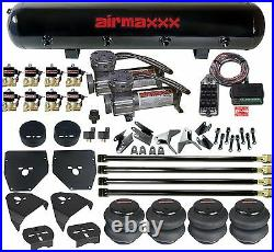 Air Suspension 4 Link 400 Compressors Bags 1/2 Valves Clear 9 For 1973-87 C10