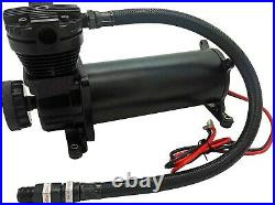 Air Suspension Kit/System for Truck/Car Bag/Ride/Lift, Dual Compressor, 4G Tank