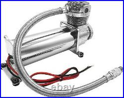 Air Suspension Kit/System for Truck/Car Bag/Ride/Lift, Dual Compressor, 5G Tank