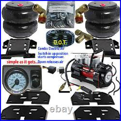 Air Tow Assist Load Level 2003 2013 Dodge Ram 3500 -Compressor-Gauge-Relay