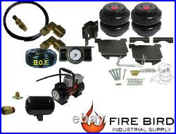 Air Tow Assist Rear kit, 2 paddle, Tank, Red Compressor 2003-08 Dodge 1500
