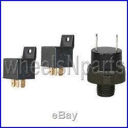 AirMaxxx Black 480 Air Ride Compressors 1/2 Brass Valves Black 7 Switch & Tank