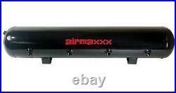 Airmaxxx Dual 480 Black Compressors Wire Kit 5 Gallon Steel 9 Port Tank Air Ride