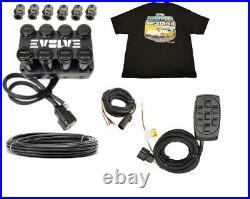 Evolve 4-Corner Air Valve solenoid Manifold X7 switch box 3/8 Hose Free Shirt