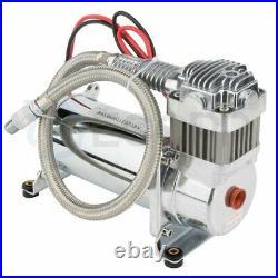 Heavy Duty Air Compressor 12v 200 PSI With 1/4 Hose Kit For Train Horns Bag