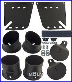 Impala Air Ride Suspension Brackets Four 2600 Bags Front & Rear Chevy 1958-1964
