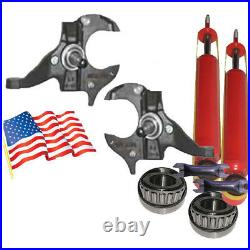 J Chevy S10 GMC S15 Sonoma 2 Front Drop Spindles Suspension Bearing/1300SBar