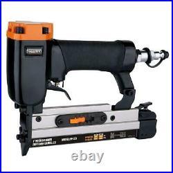 Trim Nailer Finish Brad Pin Stapler Kit Air Nail Gun Aluminum 4-Piece and Bag