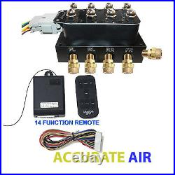 V Accu-rate Air Switch 3/8 VU4 Valve Manifold With 14 Function Remote