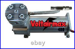 V Air Compressor For Air Bag Suspension System 480 Pewter 200psi Max