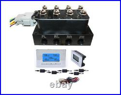 V Air Ride Suspension Manifold Valve with all FITs 3/8 5 Position Digital Gauge
