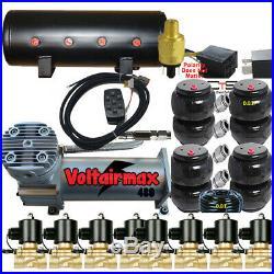 V Airbagit 200psi Compressor 1/2 Valves AirRide 14 Switch 8 port