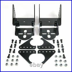 Weld On Triangulated 4 Link Kit Rear Brackets & 2500 Bags Air Ride Suspension